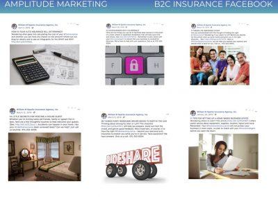 Social Media Work Samples B2C insurance facebook