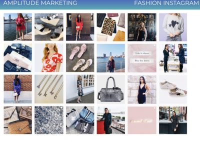 Social Media Work Samples fashion instagram