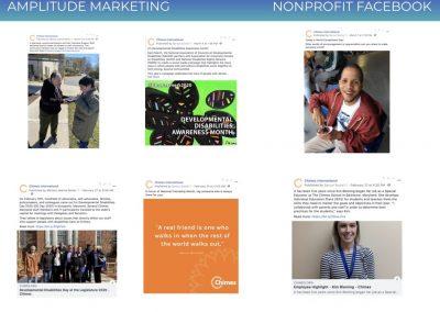 Social Media Work Samples nonprofit facebook
