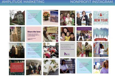 Social Media Work Samples nonprofit instagram