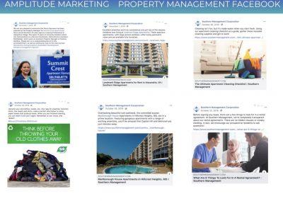 Social Media Work Samples property management facebook