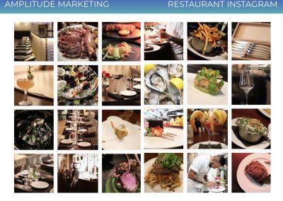 Social Media Work Samples restaurant instagram
